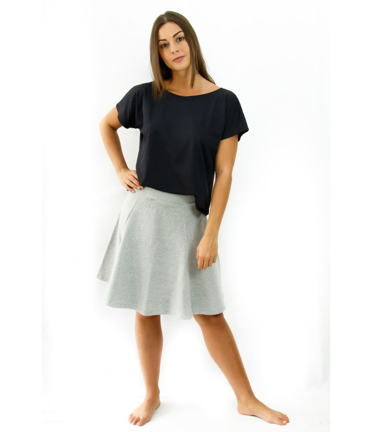 Vestido curto manga longa Curacao