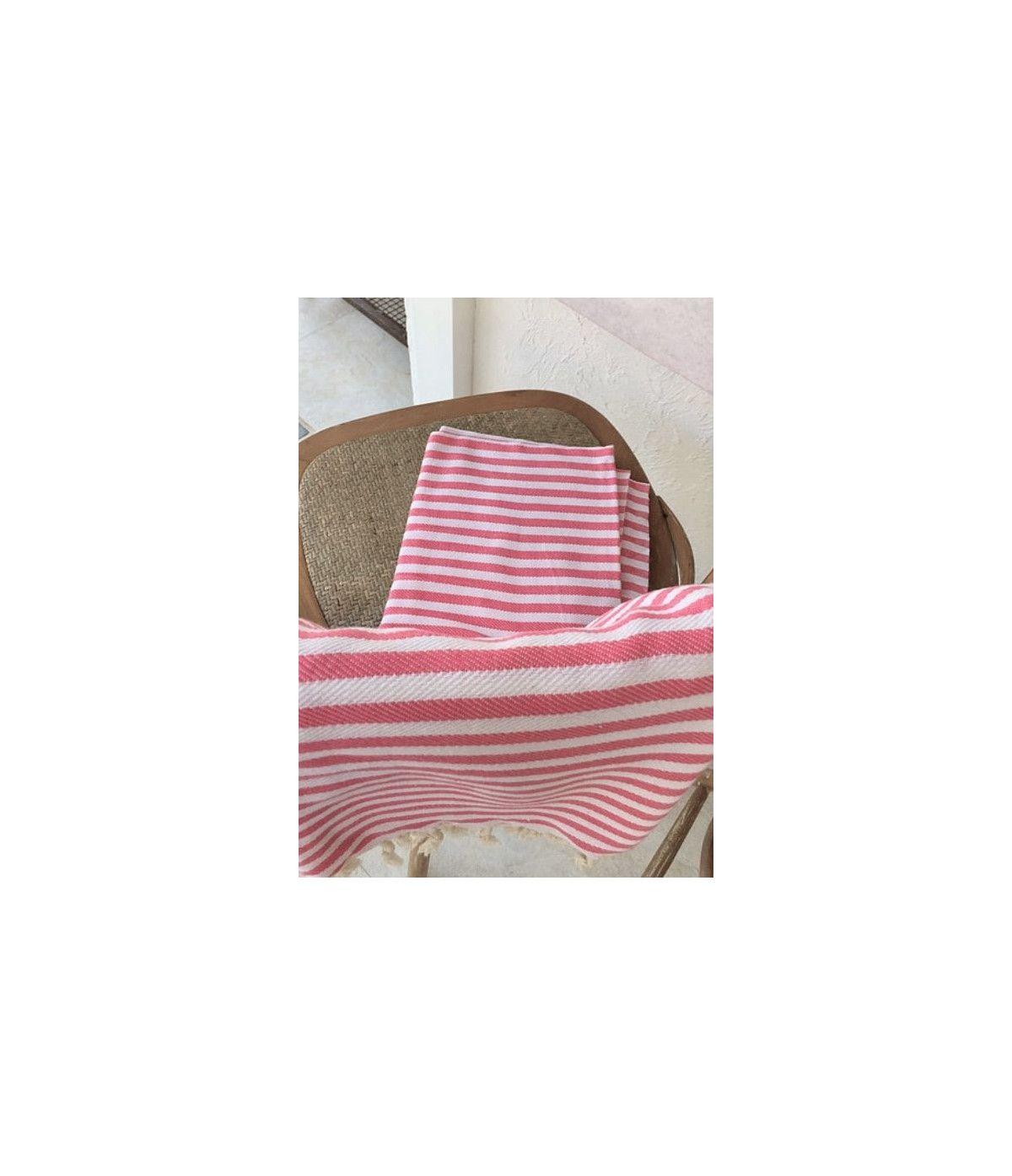 Toalha Turca Premium Listra - Rosa
