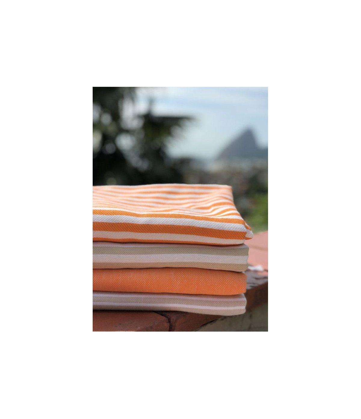 Toalha Turca Premium Listra - laranja